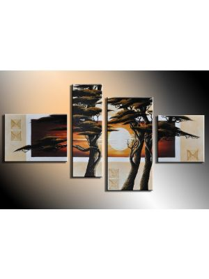 Boom 10 - 4 delig canvas 120x70cm Handgeschilderd
