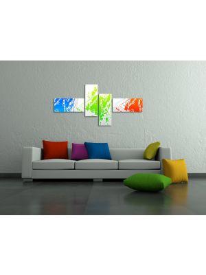 Abstracte Kunst XI - 200x90cm 4 delig - ingelijst
