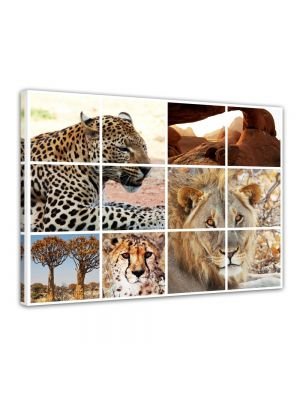 Afrika Collage I - Foto print op canvas