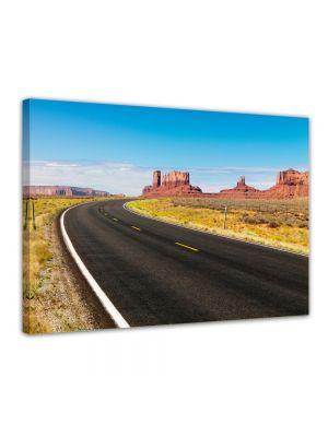 Berglandschap - Foto print op canvas