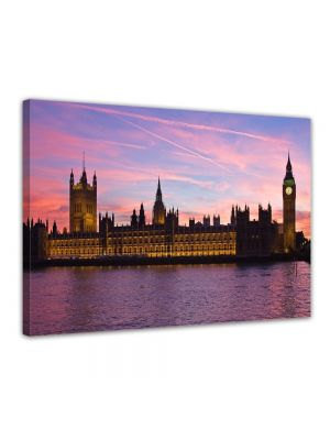 Big Ben aan de Thames - London UK - Foto print op canvas