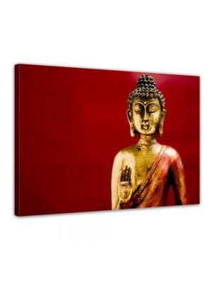 Buddha - Foto print op canvas