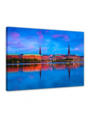 Hamburg - Foto print op canvas