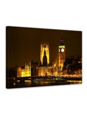 House of Parliament - London - Foto print op canvas