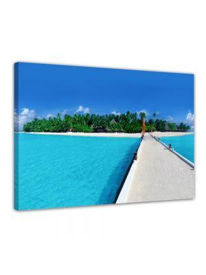 Isola delle Maldive - Malediven - Canvas print ingelijst
