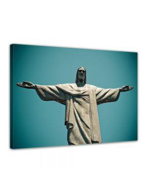 Jesus beeld - Rio De Janeiro Brasilie - ingelijste canvas print
