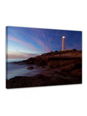 Vuurtoren van Trafalgar, Cadiz - Foto print op canvas