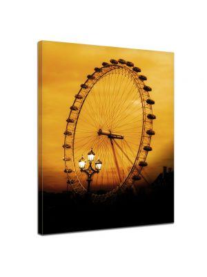 London Eye - Foto print op canvas
