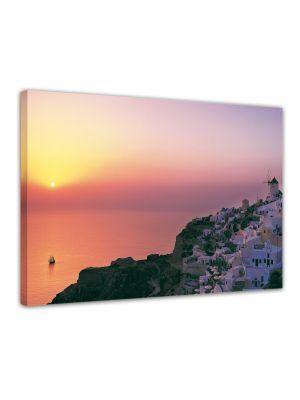 Mediterraans I Santorini Griekenland - Foto print op canvas