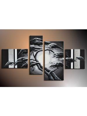 Boom 8 - 4 delig canvas 120x70cm Handgeschilderd