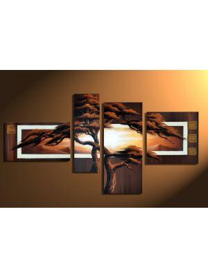 Boom 2 - 4 delig canvas 140x80cm Handgeschilderd